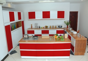 Kitchen red 1